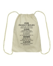 Make it the meaningful message to your family Drawstring Bag tile