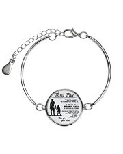 Make it the meaningful message to your dayghter Metallic Circle Bracelet thumbnail