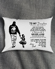 Make it the meaningful message to your daughter Rectangular Pillowcase aos-pillow-rectangle-front-lifestyle-1