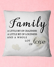 lat it show your love to your family Square Pillowcase aos-pillow-square-front-lifestyle-22