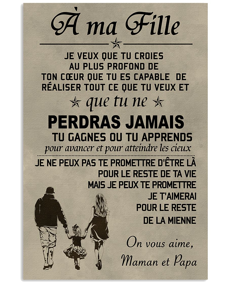 Make it the meaningful message to your daughter FR 11x17 Poster