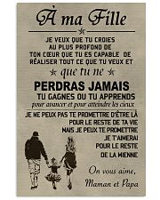 Make it the meaningful message to your daughter FR 11x17 Poster front