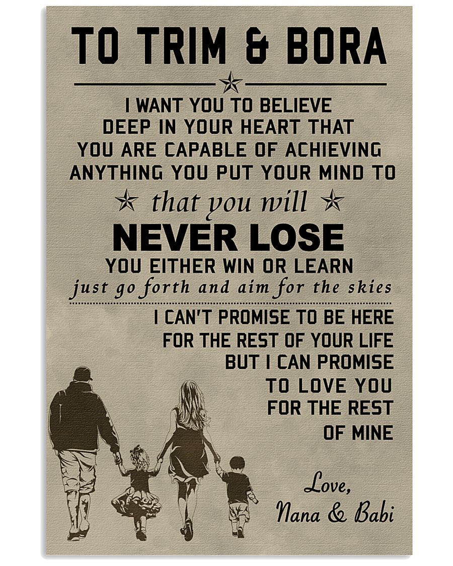 Make it the meaningful message to your children  11x17 Poster