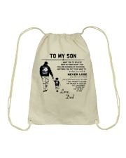 Make it the meaningful message to your sons Drawstring Bag thumbnail