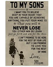 Make it the meaningful message to your sons 11x17 Poster front
