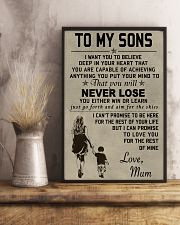 Make it the meaningful message to your sons 11x17 Poster lifestyle-poster-3