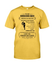 Make it the meaningful message to your wife Classic T-Shirt front