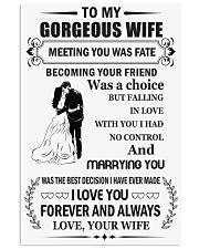 Make it the meaningful message to your wife 16x24 Poster front