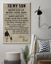 Make it the meaningful message to your son 11x17 Poster lifestyle-poster-1