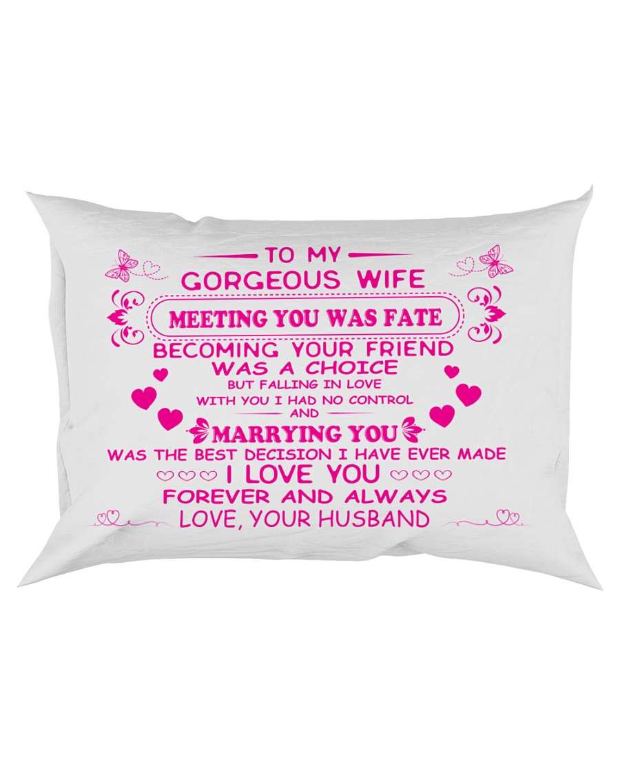 Make it the meaningful message to your wife Rectangular Pillowcase