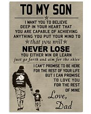 Make it the meaningful message to your son 11x17 Poster thumbnail
