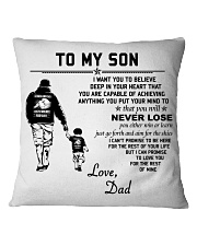 Make it the meaningful message to your son Square Pillowcase tile