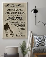 Make it a meaningful message to your niece 11x17 Poster lifestyle-poster-1