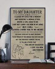 Make it the meaningful message to your daughter 11x17 Poster lifestyle-poster-2