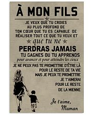 Make it the meaningful message to your son FR 11x17 Poster front