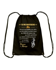 Make it the meaningful message to your boyfriend Drawstring Bag thumbnail