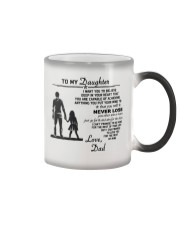 Make it the meaningful message to your daughter Color Changing Mug color-changing-right