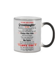 meaningful message to your granddaughter Color Changing Mug thumbnail
