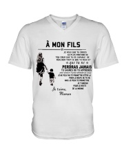 Make it the meaningful message to your son V-Neck T-Shirt thumbnail