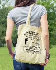 Make it the meaningful message to your Wife Tote Bag lifestyle-totebag-front-5