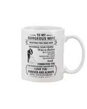 Make it the meaningful message to your Wife Mug front