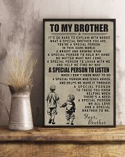 Make it the meaningful message to your brother 11x17 Poster lifestyle-poster-3