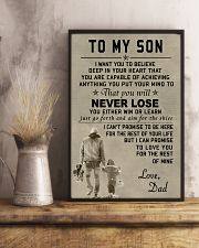 Make it the meaningful message to your son 11x17 Poster lifestyle-poster-3
