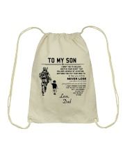 Make it the meaningful message to your son Drawstring Bag tile