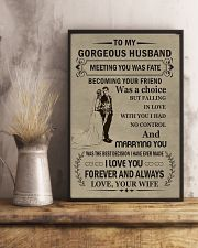 Make it the meaningful message to your husband  11x17 Poster lifestyle-poster-3