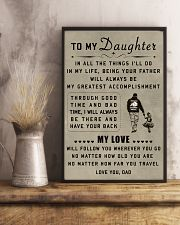 make it the meaningful message to your daughter 11x17 Poster lifestyle-poster-3