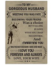 Make it the meaningful message to your husband 11x17 Poster front