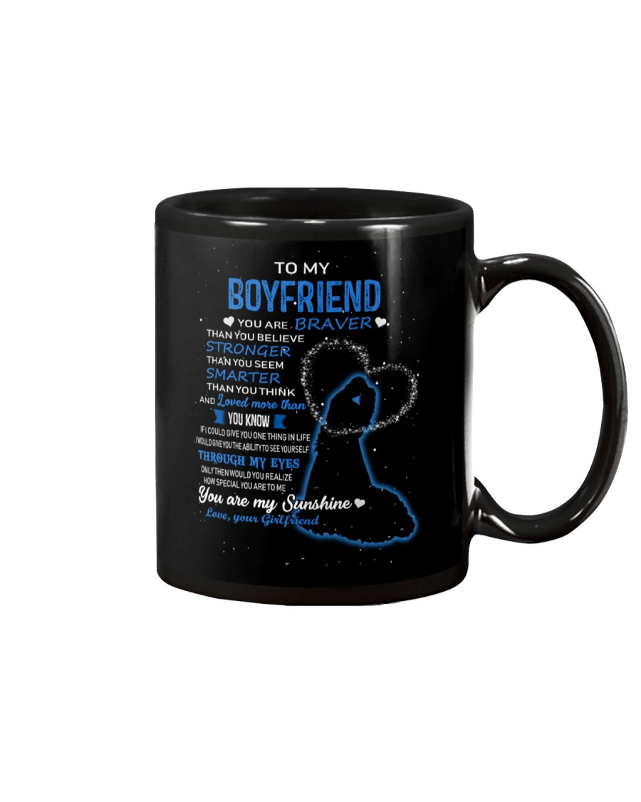 FAMILY MUG-GIRLFRIEND TO BOYFRIEND -YOU ARE BRAVER Mug