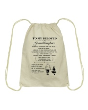 the meaningful message to your granddaughter Drawstring Bag thumbnail