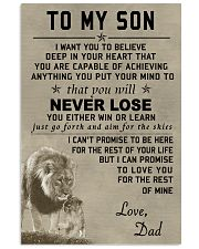 Make it the meaningful message to your son 11x17 Poster front