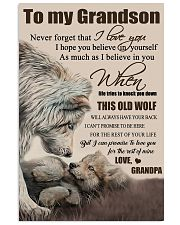 H15 Wolf poster-Grandpa to grandson-This old wolf 11x17 Poster front