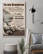 H15 Wolf poster-Grandpa to grandson-This old wolf 11x17 Poster lifestyle-poster-1