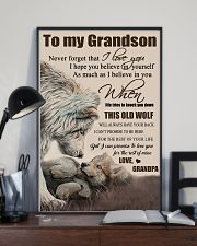 H15 Wolf poster-Grandpa to grandson-This old wolf 11x17 Poster lifestyle-poster-2