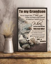 H15 Wolf poster-Grandpa to grandson-This old wolf 11x17 Poster lifestyle-poster-3