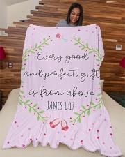"Scriptures Blanket Gift Ideas-Little Girl-Daughter Large Fleece Blanket - 60"" x 80"" aos-coral-fleece-blanket-60x80-lifestyle-front-04"