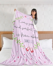 "Scriptures Blanket Gift Ideas-Little Girl-Daughter Large Fleece Blanket - 60"" x 80"" aos-coral-fleece-blanket-60x80-lifestyle-front-11"