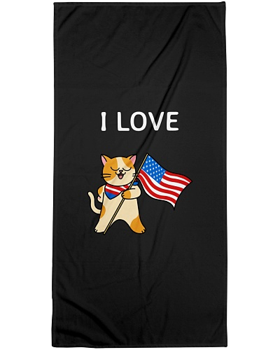 I LOVE USA FUNNY KITTEN SHIRTS