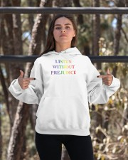 listen without prejudice t shirt Hooded Sweatshirt apparel-hooded-sweatshirt-lifestyle-05