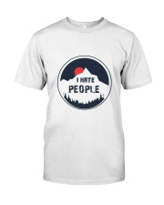 i hate people Classic T-Shirt front