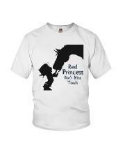 real princess don't kiss toads Youth T-Shirt thumbnail