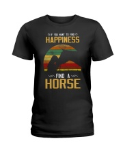If You Want To Find Happiness Ladies T-Shirt front
