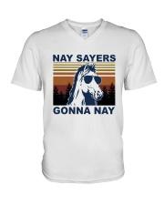 Nay Sayers Gonna Nay V-Neck T-Shirt tile