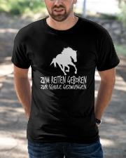 Zum Reiten Geboren Zur Schule Gezwungen  Classic T-Shirt apparel-classic-tshirt-lifestyle-front-50