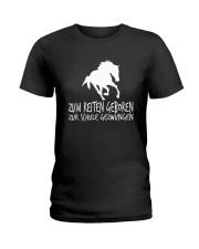 Zum Reiten Geboren Zur Schule Gezwungen  Ladies T-Shirt thumbnail