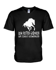 Zum Reiten Geboren Zur Schule Gezwungen  V-Neck T-Shirt thumbnail