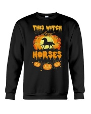 This Witch Love Horses Crewneck Sweatshirt thumbnail